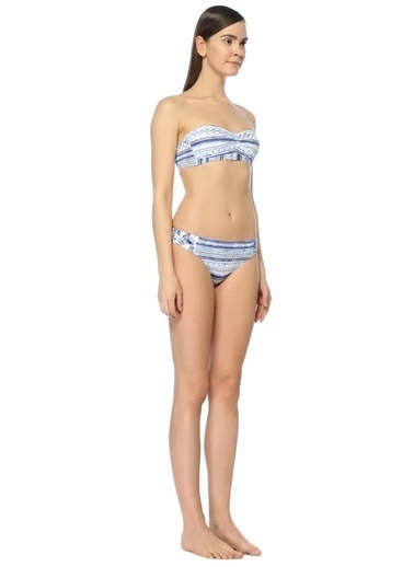 Jets Swimmear Straplez Bikini Üstü Mavi